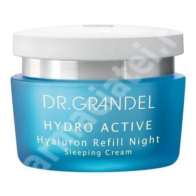 Crema antirid cu acid hialuronic pentru noapte Hydro Active (40206), 50 ml, Dr. Grandel