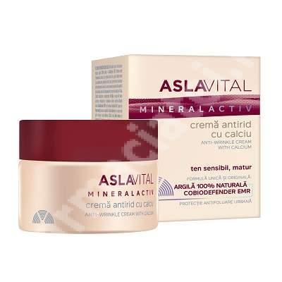 Crema antirid cu calciu AslaVital, 50 ml, Farmec