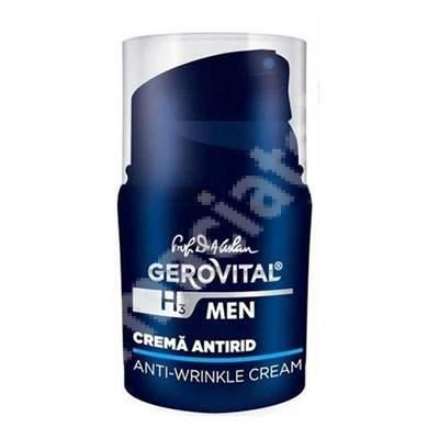 Crema antirid Gerovital H3 Men, 30 ml, Farmec