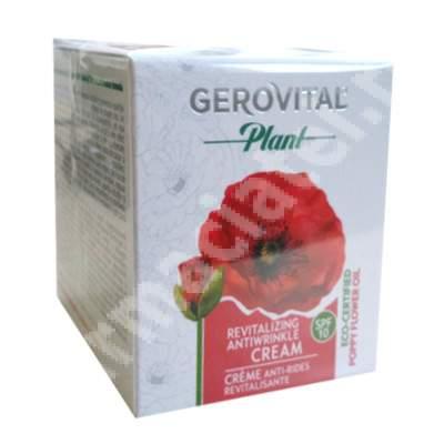 Crema antirid revitalizanta cu ulei de flori de mac SPF 10, 50 ml, Farmec