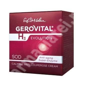 Cremă calmantă anticuperozică Gerovital H3 Evolution, 50 ml, Farmec