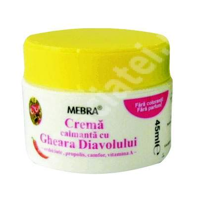 Crema calmanta cu Gheara Diavolului, 45 ml, Mebra