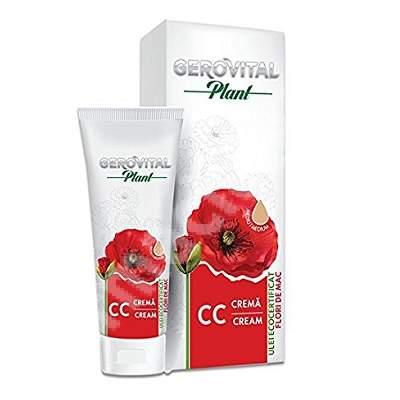 Crema CC cu ulei de flori de mac Gerovital Plant, Mediu, 50 ml, Farmec
