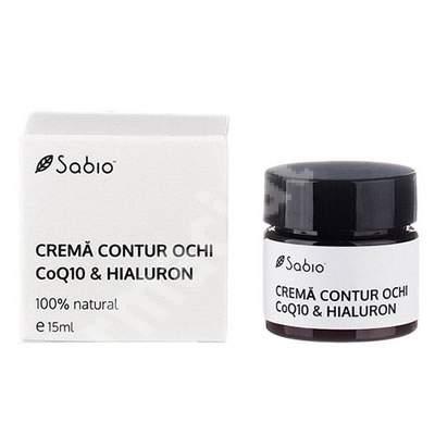 Cremă contur ochi cu Acid Hialuronic și Coenzima Q10, 15 ml, Sabio