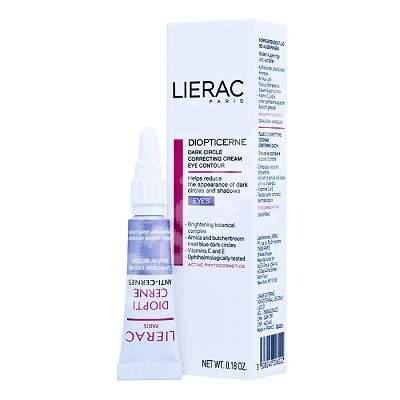Crema corectoare pentru conturul ochilor cu efect anticearcan Diopticerne, 5 ml, Lierac