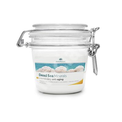 Crema corp anti-aging cu minerale, alge marine si acid hialuronic Dead Sea Minerals, 200 ml, Cosmetic Plant