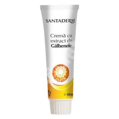 Cremă cu extract de gălbenele Santaderm, 50 ml, Vitalia