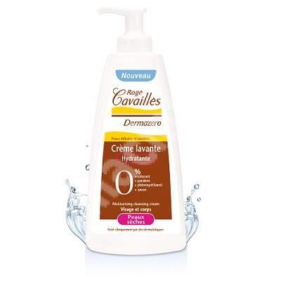 Crema curatatoare hidratanta pentru piele uscata Dermazero, 300 ml, Roge Cavailles