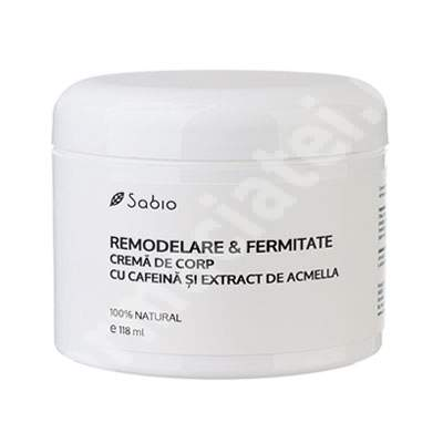 Crema de corp cu cafeina si acmella Remodelare&Fermitate, 118 ml, Sabio