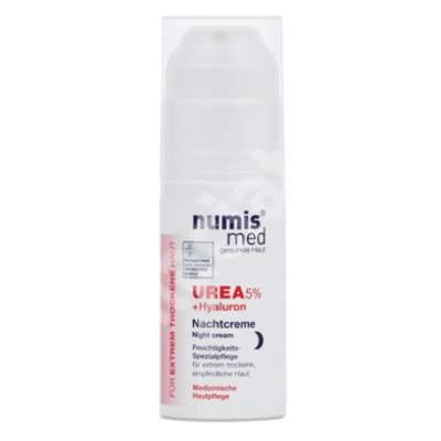 Crema de fata dermatocosmetica pentru noapte cu Uree 5% pentru piele uscata si foarte uscata, 50 ml, Numismed