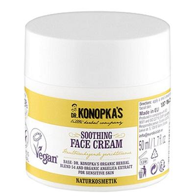 Cremă de față pentru piele sensibilă, 50 ml, Dr. Konopkas