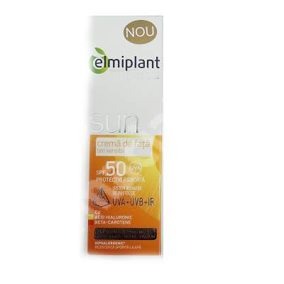 Cremă de față ten sensibil SPF 50 Care Lab Sun, 50 ml, Elmiplant