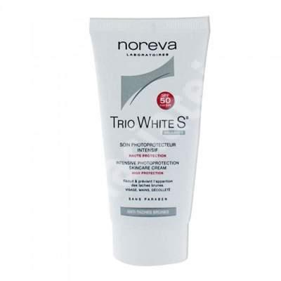 Crema de ingrijire intensiva fotoprotectoare Trio White S SPF 50, 40 ml, Noreva