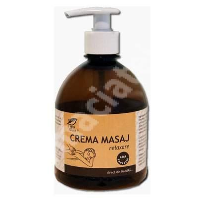 Crema de masaj relaxare, 500 g, Pro Natura