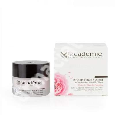 Crema de noapte cu extract de trandafir Aromoatherapie, 30 ml, Academie