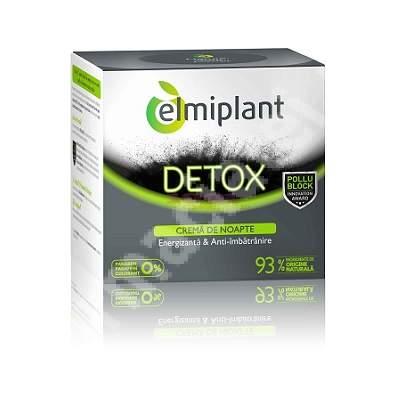 Cremă de noapte detox energizantă anti-îmbătrânire, 50 ml, Elmiplant