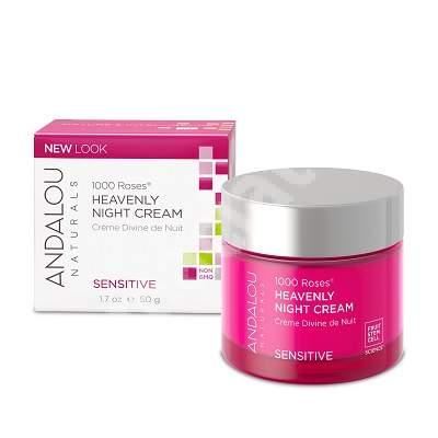 Cremă de noapte hidratantă pentru ten sensibil sau deshidratat Sensitive Andalou, 50 g, Secom