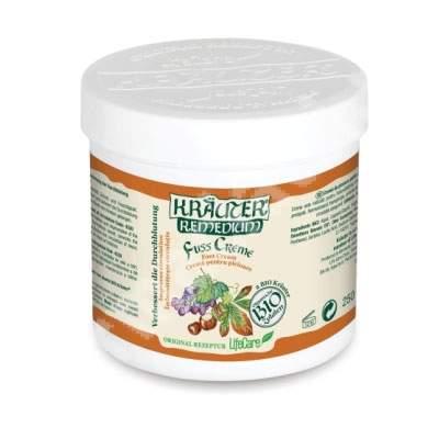 Crema de picioare Bio pentru imbunatatirea circulatiei cu vita de vie si plante Krauter Remedium, 250 ml, LifeCare