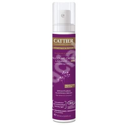 Crema de somn Smoothing Sleeping Cream, 50 ml, Cattier