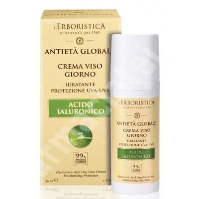Crema de zi cu acid hialuronic vegetal, 50 ml, L'Erboristica