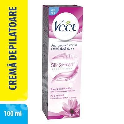 Crema depilatoare piele normala lotus si iasomie, 100 ml, Veet