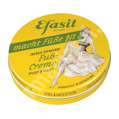 Crema energizanta pentru picioare, 75ml, Efasit Retro