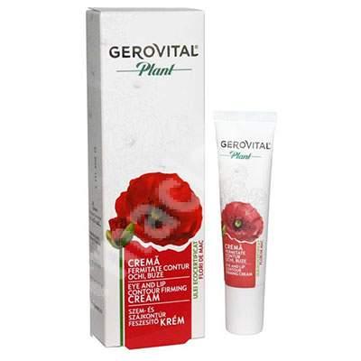 Crema fermitate contur ochi si buze Gerovital Plant, 15 ml, Farmec