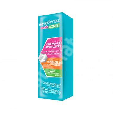 Crema-gel sebum control 2 Gerovital Stop Acnee, 50 ml, Farmec
