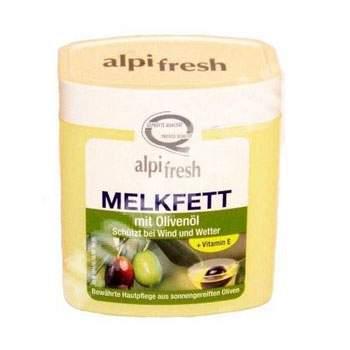 Crema grasa emolienta pentru fata si corp cu ulei de masline si vitamina E Alpifresh Melkfett, 250 ml, Lenhart Kosmetik