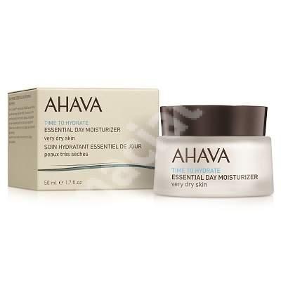 Crema hidratanta de zi pentru ten uscat sau foarte uscat Time to Hydrate Essential 80215066, 50 ml, Ahava
