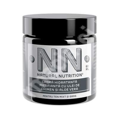 Cremă hidratantă matifiantă cu ulei de chimen și aloe vera, 60 ml, NN Cosmetics