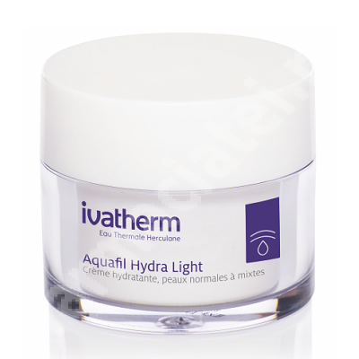 Crema hidratanta pentru piele normal-mixta Aquafil Hydra Light, 30 ml, Ivatherm