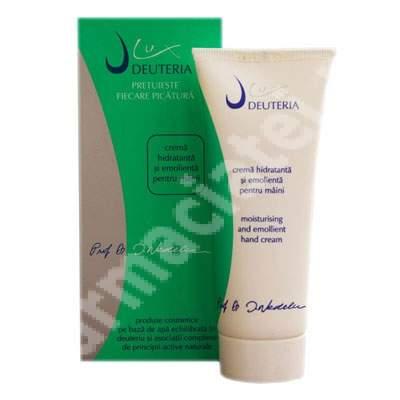 Crema hidratanta si emolienta pentru maini, 75 ml, Deuteria Cosmetics