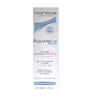 Crema hidratanta Textura Lejera 24H Aquareva, 40 ml, Noreva