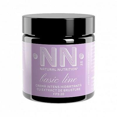 Cremă intens hidratantă cu extract de brusture FPS 20, 60 ml, NN Cosmetics
