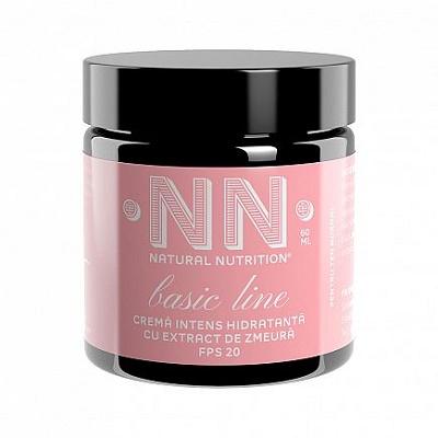 Cremă intens hidratantă cu extract de zmeură FPS 20, 60 ml, NN Cosmetics