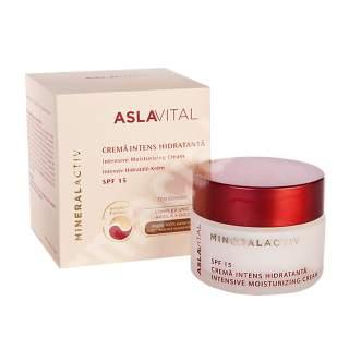 Crema intens hidratanta SPF 15 AslaVital, 50 ml, Farmec