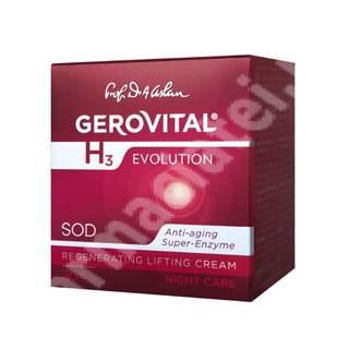 Cremă lift regeneranță de noapte Gerovital H3 Evolution, 50 ml, Farmec