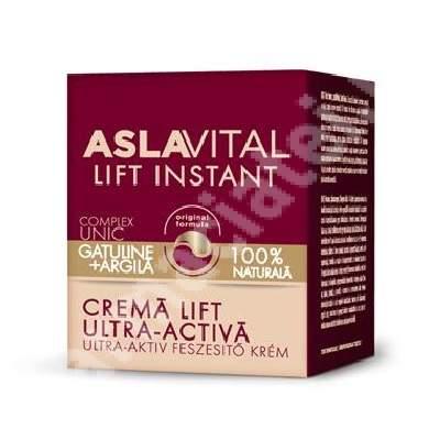Crema lift ultra-activa pentru toate tipurile de ten AslaVital, 50 ml, Farmec