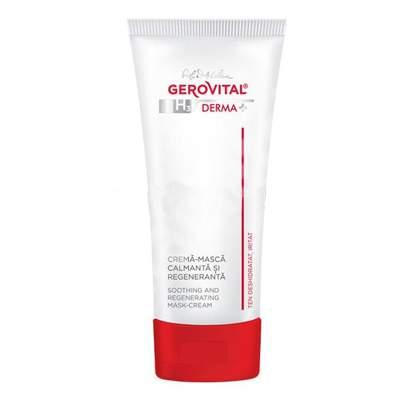 Cremă-mască calmantă și regeneranță ten deshidratat și iritat Gerovital H3 Derma+, 50 ml, Farmec