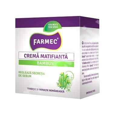 Crema matifianta bambus, 50 ml, Farmec