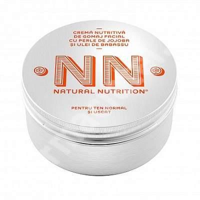 Cremă nutritivă de gomaj facial cu perle de jojoba și ulei de babassu, 100 ml, NN Cosmetics