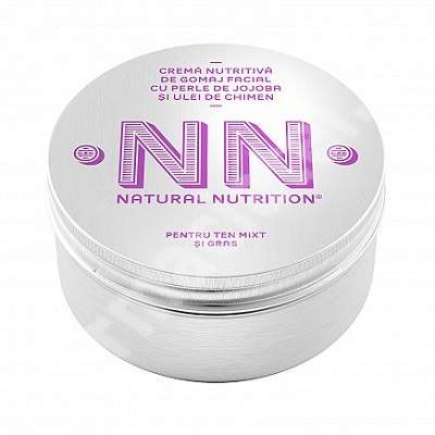 Cremă nutritivă de gomaj facial cu perle de jojoba și ulei de chimen, 100 ml, NN Cosmetics