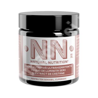 Cremă nutritivă ultrahidratantă cu ulei de luminița serii și extract de castane, 60 ml, NN Cosmetics