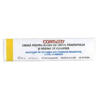 Cremă pentru masaj cu untul pământului și rășină de conifere, Conimed, 50 ml, Elzin Plant