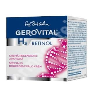 Crema pentru regenerare avansata Gerovital H3 Retinol, 50 ml, Farmec