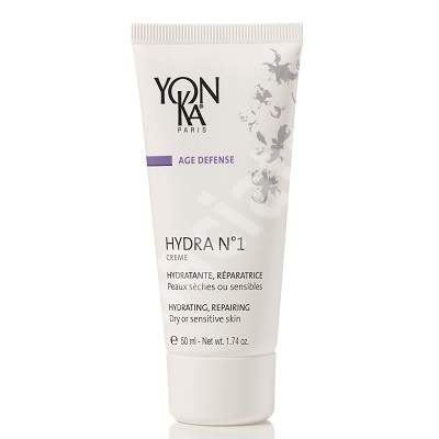 Crema pentru ten deshidratat sau sensibil Hydra No. 1, 50 ml, YonKa