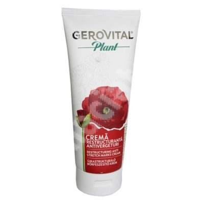 Crema restructuranta antivergeturi Gerovital Plant, 200 ml, Farmec