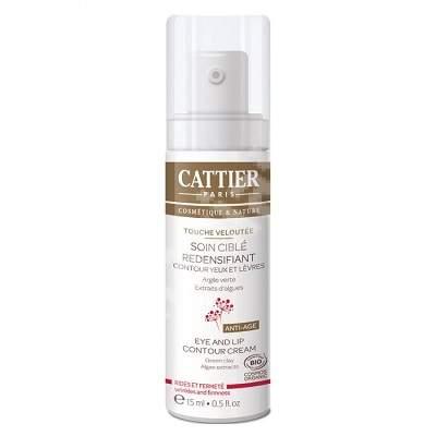 Crema restructuranta contur ochi si buze Eye and Lip contour Cream, 15 ml, Cattier