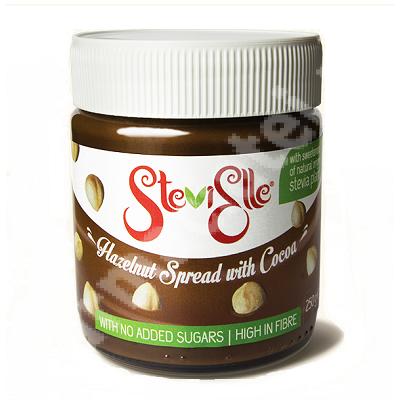 Crema Stevia de alune cu cacao Stevielle, 250 g, Hermes Natural